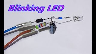 DIY - How To Make DC Blinking LED Light (Without IC)