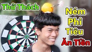 Lâm Vlog - Thử Thách Ném Phi Tiêu Ăn Tiền | Challenge Throwing Darts For Money