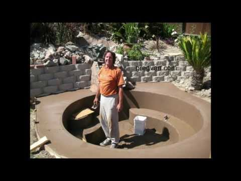 How To Build Backyard Concrete Pond or Pool – Part Six Finishing Project