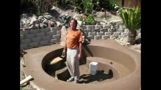How To Build Backyard Concrete Pond Or Pool - Part Six Finishing Project