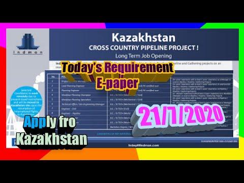 Kazakhstan Vacancies Open,Urgently Requirement for Kazakhstan,Gulf Jobs Vacancies, Assignment Abroad