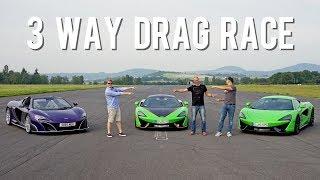 DRAG RACE: RaceChip 570S vs McLaren 675LT vs 570S