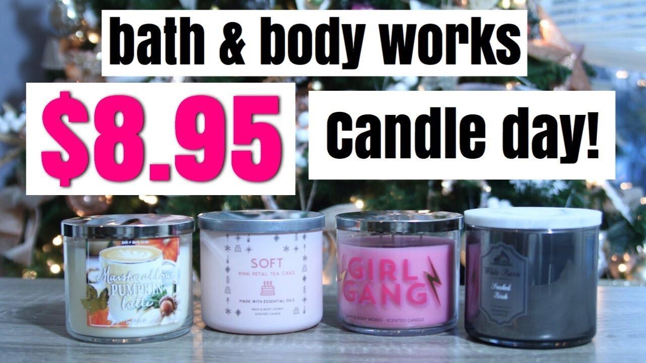 8 95 Candle Sale Bath Amp Body Works Haul 12 Days Of