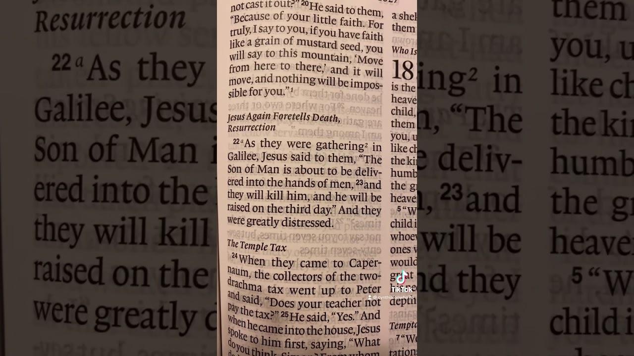 Matthew 17:22