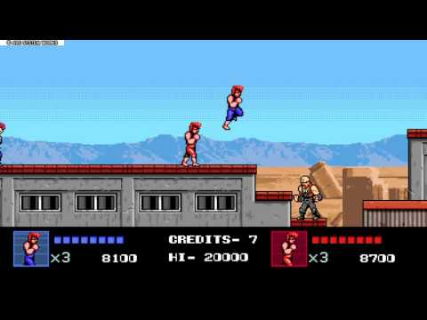 Double Dragon IV Playthrough - Billy and Jimmy Lee (Co-op)