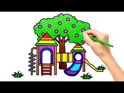 Cara Menggambar Taman yang Indah dan bagus