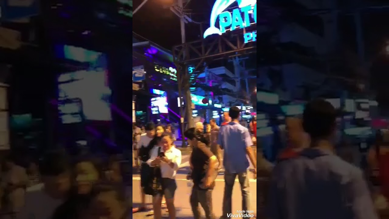 Patong beach phuket Thailand night club open bar phuket Street bars