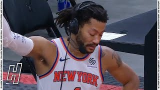 Derrick Rose Gets Choked up after Hearing Mitchell Robinson Fractured his Foot | March 27, 2021