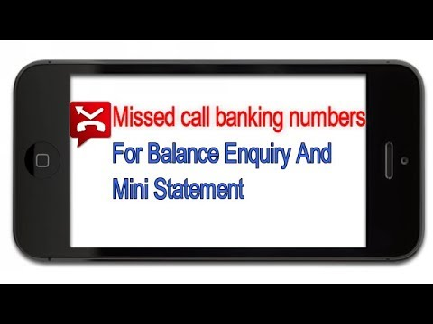 All bank miss call balance enquiry number or checking number.toll free