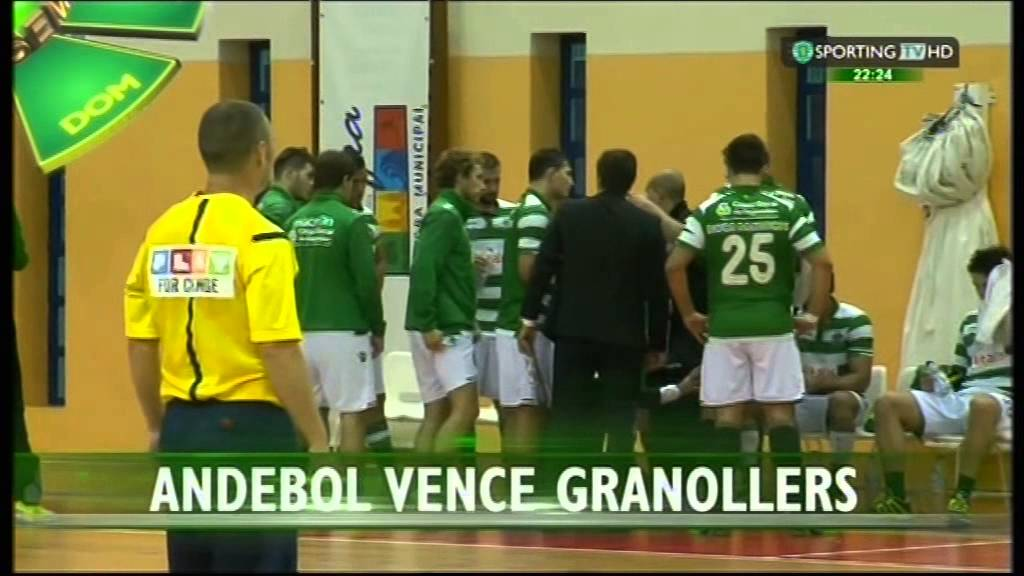 Andebol :: Sporting - 27 x Granollers - 25 de 2014/2015 Taça EHF - 3Elim - 1Mao