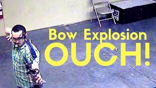 bow exploded gander mountain archery range security camera footage peace love and guns