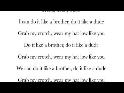 Lirik lagu do it like a dude