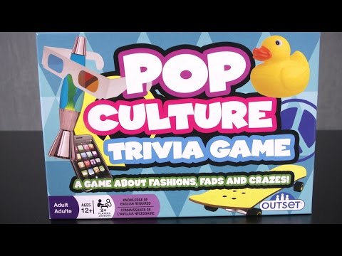 Pop Culture Trivia Game from Outset Media Games