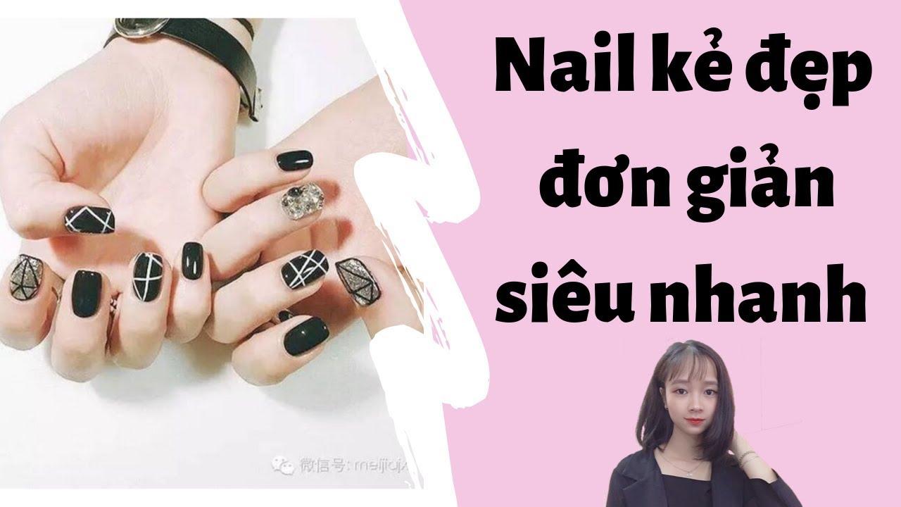 Nail kẻ sọc – Cách vẽ nail kẻ đẹp nhanh thẳng