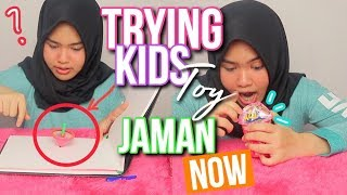 TRYING KIDS TOY! + UNBOXING POP TOY ♡ MAINAN ANAK KEKINIAN?!
