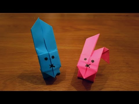 How To Make an EASY Paper Rabbit that JUMPS- Origami