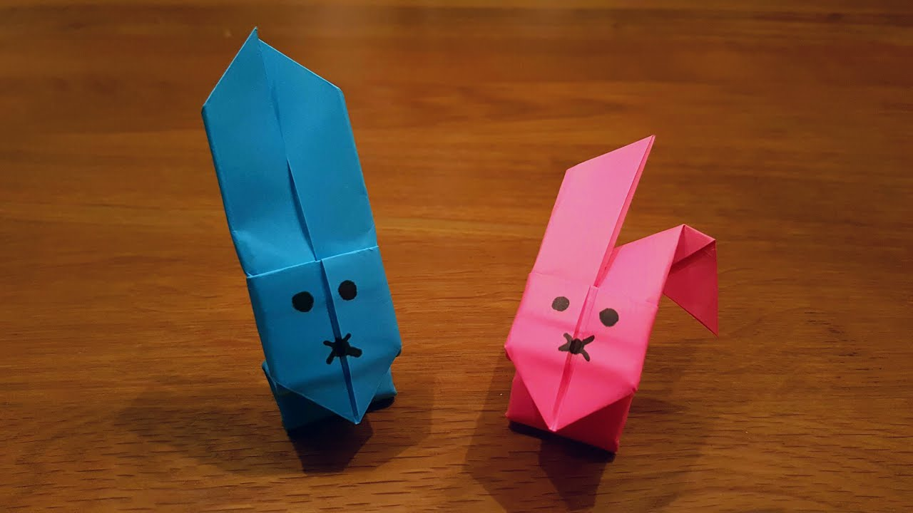 How To Make a Paper Jumping Rabbit - Origami - YouTube - photo#4