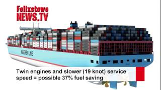 Newest, biggest container ship . .