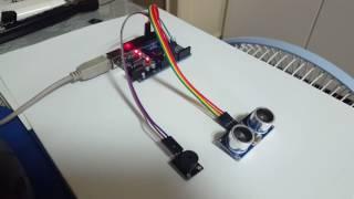 아두이노ep21-초음파센서로 자동차 후방감지기 만들기