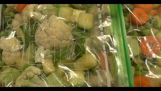 Заморозка смеси овощей для супов и рагу  Правильная заморозка.
