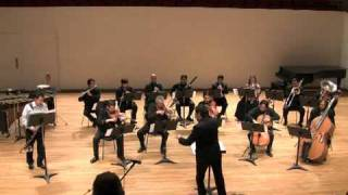 """ÉCHANGE"" by IANNIS XENAKIS. Bass Clarinet plus 13 instruments"