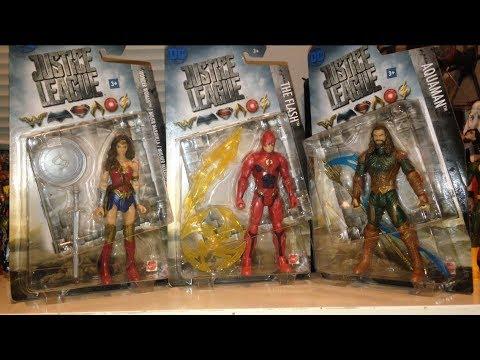 Justice League movie wonder woman flash aquaman action figure review