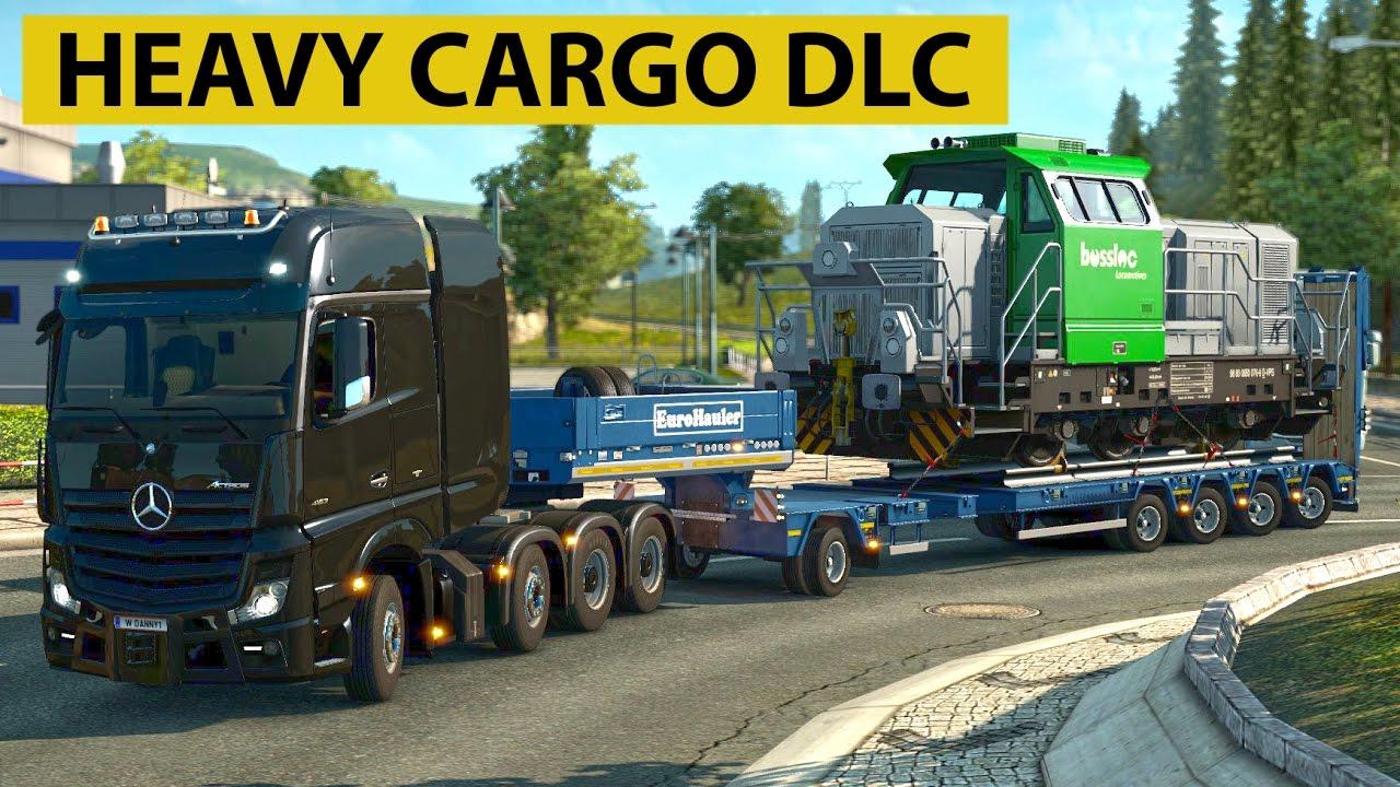euro truck simulator 2 heavy cargo pack dlc locomotive youtube. Black Bedroom Furniture Sets. Home Design Ideas