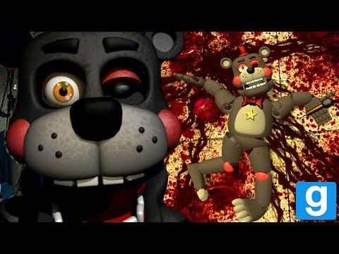 KILLING LEFTY AND ROCKSTAR FREDDY!  FNAF 6 GMOD Five Nights at Freddy 6 Garys Mod