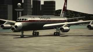 """FS9/FS2004 Classic - Swiss Air Convair CV-990 """"Landing in Kai Tak"""""""