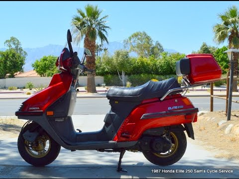 1987 Honda Elite 250 Scooter For Sale Www Samscycle Net Youtube