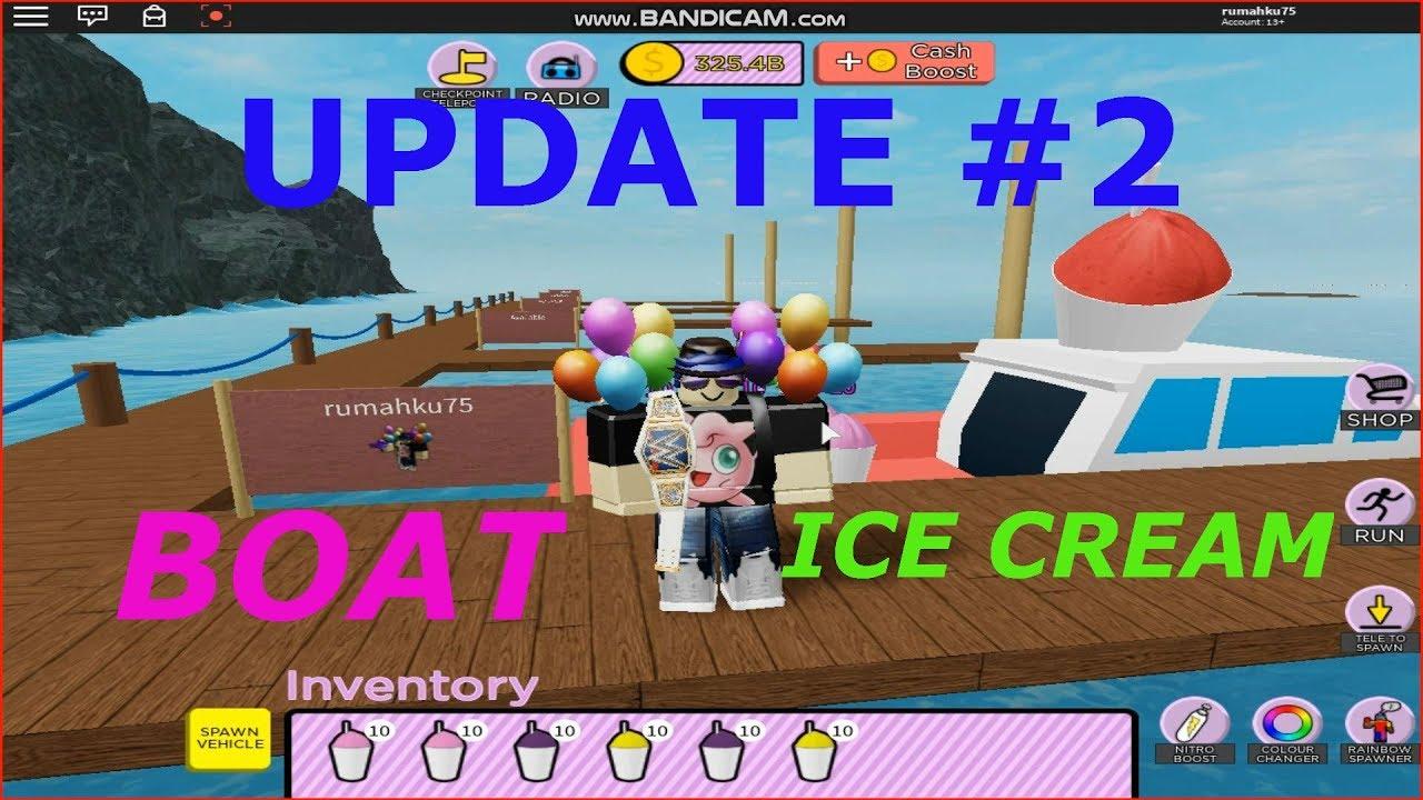 Roblox Ice Cream Van Simulator Boat