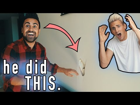 HE PUNCHED A HOLE IN MY NEW APARTMENT'S WALL?! (Surprise at End!)
