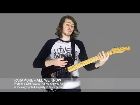 Paramore  All We Know  Studio Quality Guitar  In 4K