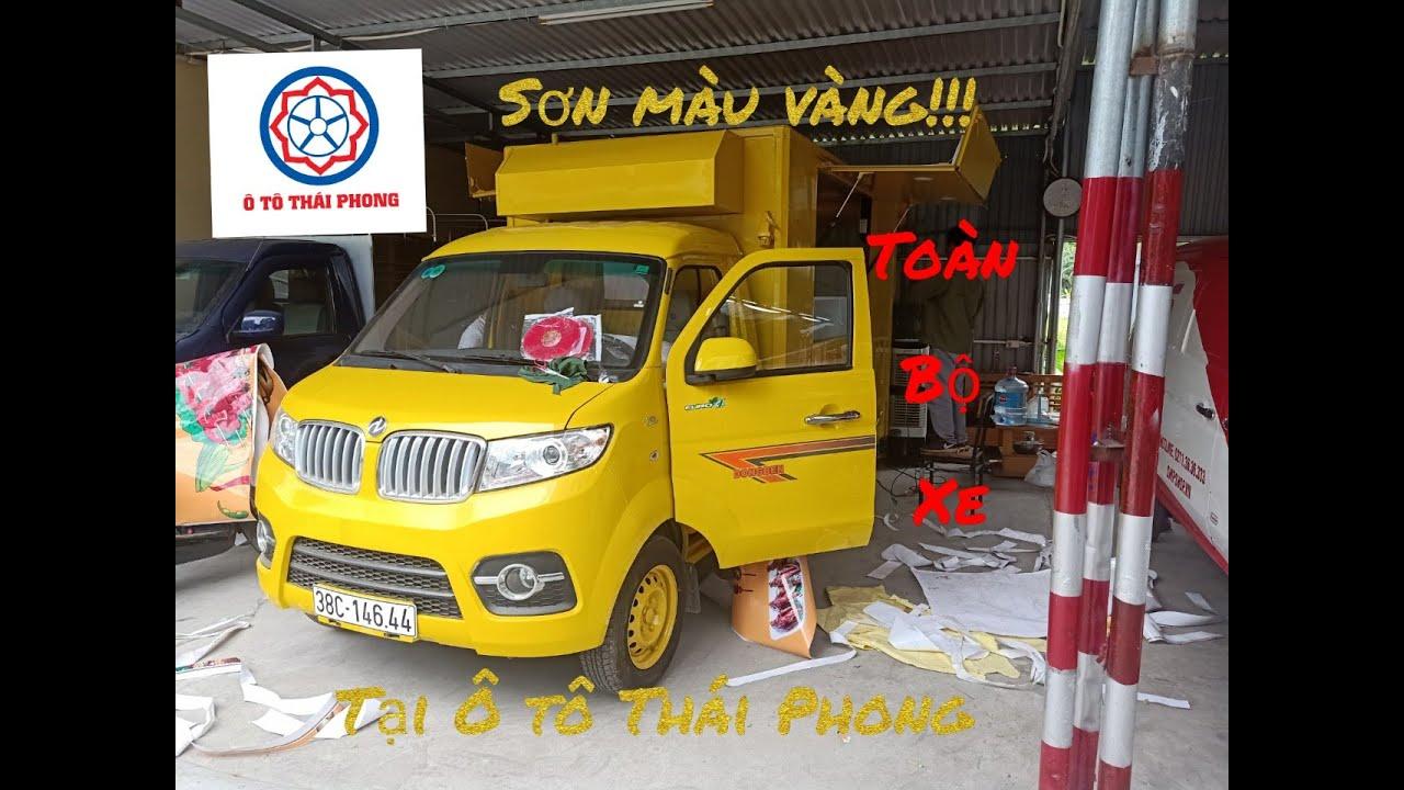 Xe ô tô bán hàng lưu động được sơn toàn bộ trong ngoài theo yêu cầu của khách hàng