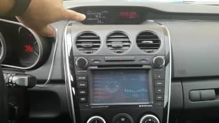 Налаштування годинника на маленькому дисплеї Mazda CX-7 2011 (рестайлінг Phantom dvm)