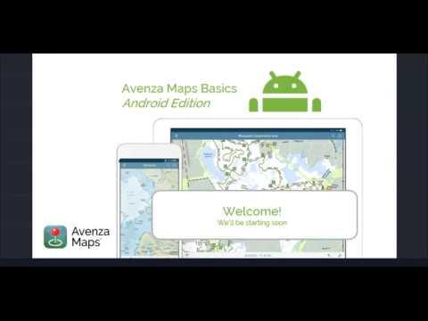 Avenza Maps Basic - Online Training Webinar Android