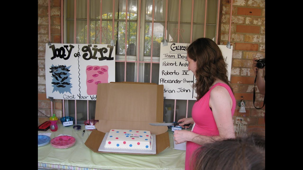 Our Gender Reveal Party for Baby 1 And the gender is