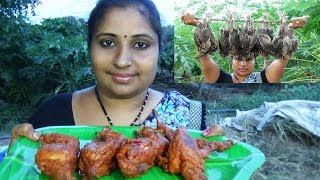 10 Quail Birds Cutting & Angry Birds Fry Recipe | Roast Angry Birds Prepared By Aunty | Sea Foods