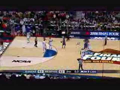 Kansas vs. Memphis - 2008 NCAA Title Game Highlights (HD)