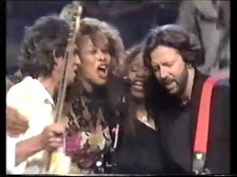 Keith Richards, Eric Clapton, Tina Turner Keep AKnockin But You Cant Come In
