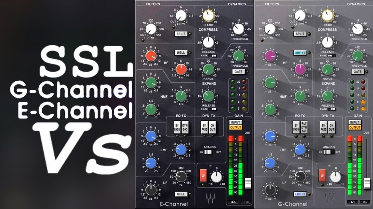Waves Ssl 4000 G Vs E Channel Audio Using Extreme Settings Youtube