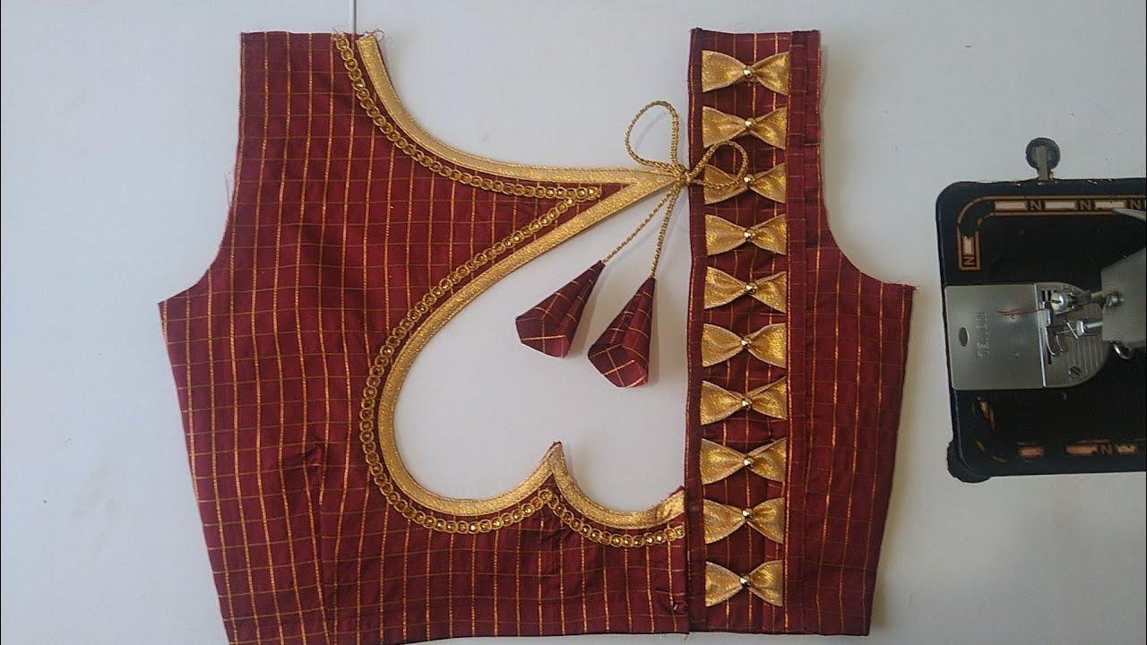 "36""Designer model blouse gala design silk saree model blouse gala design back neck/Blouse designs"