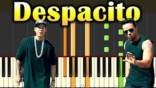 Luis Fonsi - Despacito ft. Daddy Yankee -  Piano Tutorial