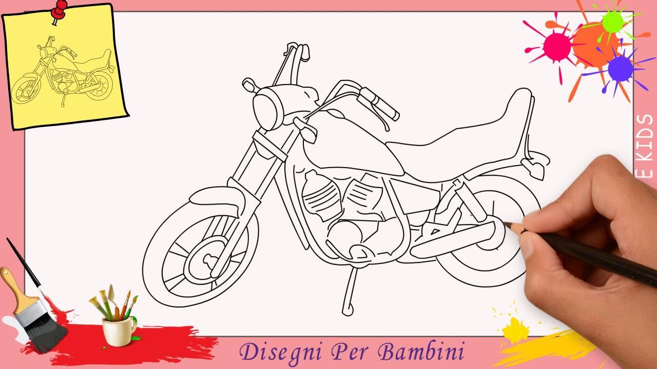 Disegni di moto 2 come disegnare una moto facile passo for Coniglio disegno per bambini