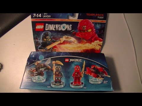 LEGO DIMENSIONS NINJAGO TEAM PACK COLE and KAI UNBOXING and BUILD