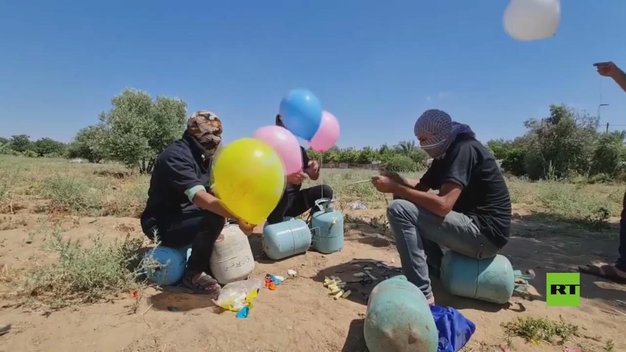 الفصائل الفلسطينية تستمر في إطلاق بالونات حارقة نحو غلاف غزة  - 21:55-2021 / 6 / 16