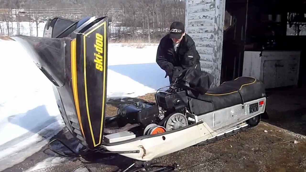 1980 Bombardier Ski Doo Everest 500 Cold Start - YouTube