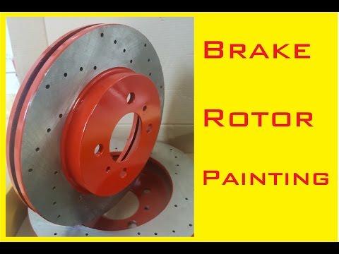 Brake rotor painting