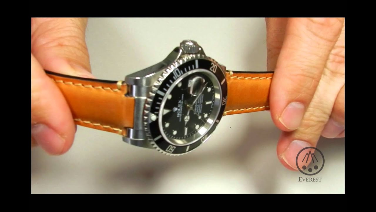Rolex Leather Strap System From Everest Youtube