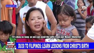 Du30 to Filipinos: Learn lessons from Christ's birth